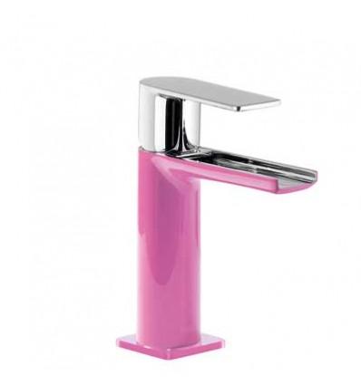 20011001FUD-loft-colors-tres-grifo-monomando-lavabo-cano-cascada-libre-fucsia-cromo