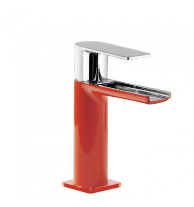 20011001ROD-loft-colors-tres-grifo-monomando-lavabo-cano-cascada-libre-rojo-cromo