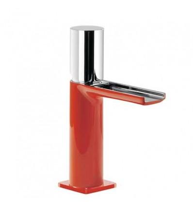 20011002ROD-loft-colors-tres-grifo-monomando-lavabo-cano-cascada-libre-rojo-cromo