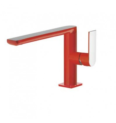 20020501ROD-loft-colors-tres-grifo-monomando-lavabo-cano-largo-rojo-cromo