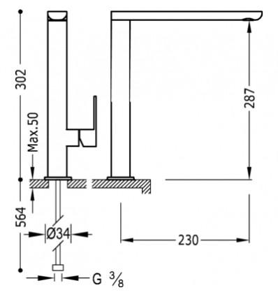 20020503AMD-loft-colors-tres-grifo-monomando-lavabo-cano-largo-ambar-cromo
