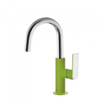 20020504VED-loft-colors-tres-grifo-monomando-lavabo-cano-curvo-verde-cromo