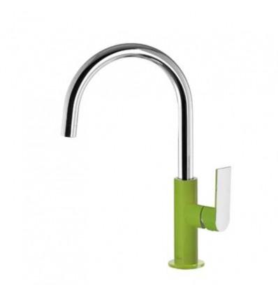 20020505VED-loft-colors-tres-grifo-monomando-lavabo-cano-curvo-verde-cromo