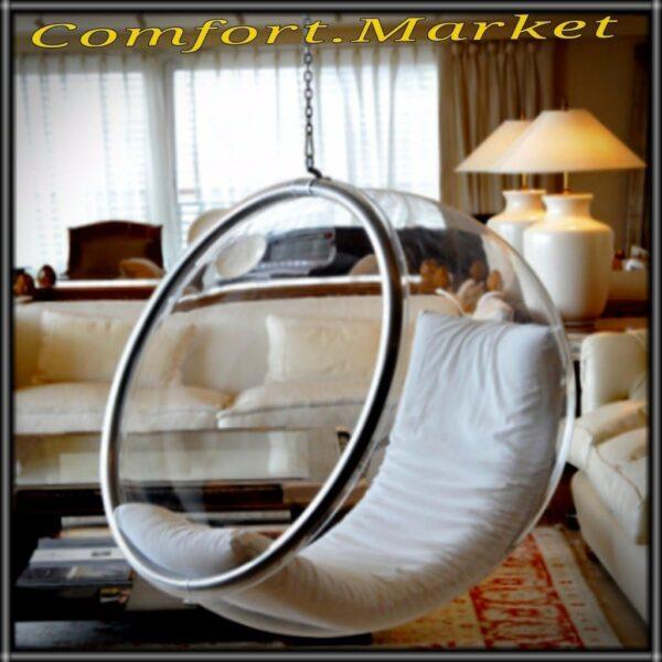 Прозрачное подвесное кресло шар Bubble chair от производителя в Украине - Comfort Market