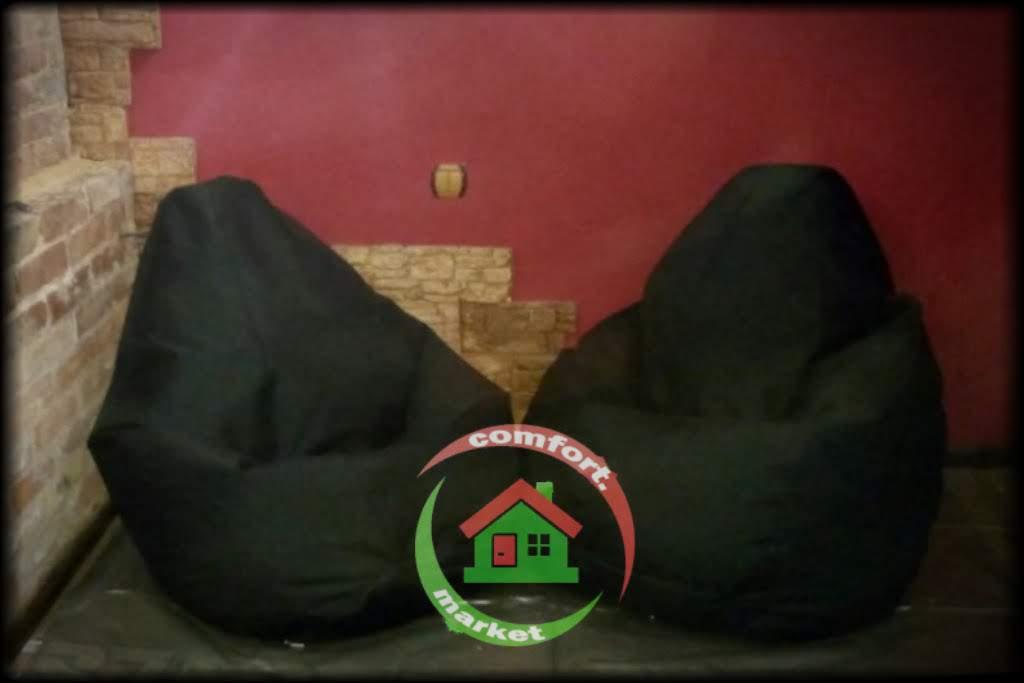 Кресло груша 120*85 см из ткани Оксфорд, цвет черный, Украина, Киев