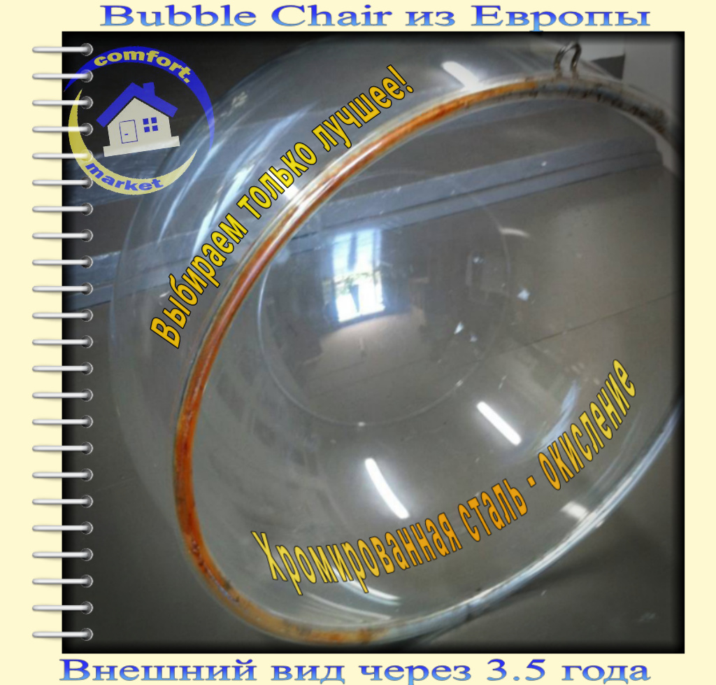 Bubble chair - furniture made in Europe - after 3-4 years.