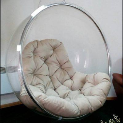 Прозрачное подвесное кресло сфера Bubble chair - продажа в Киеве