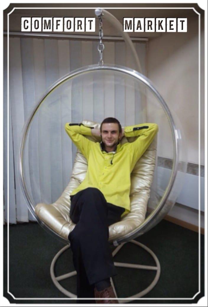 Подвеное кресло бабл из акрила - hi-tech мебель в Украине - Ball chair