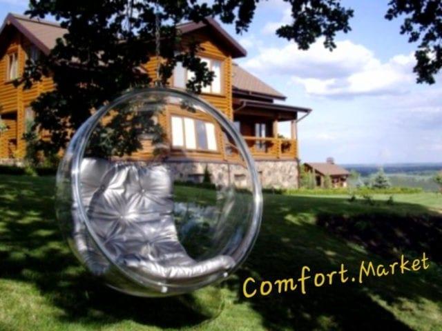 Заказать садовое кресло качели Bubble chair из акрила по цене производителя в Украине