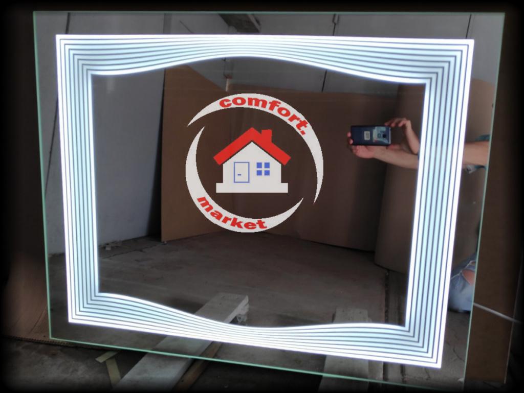 Эксклюзивное LED зеркало для ванной комнаты, прихложей
