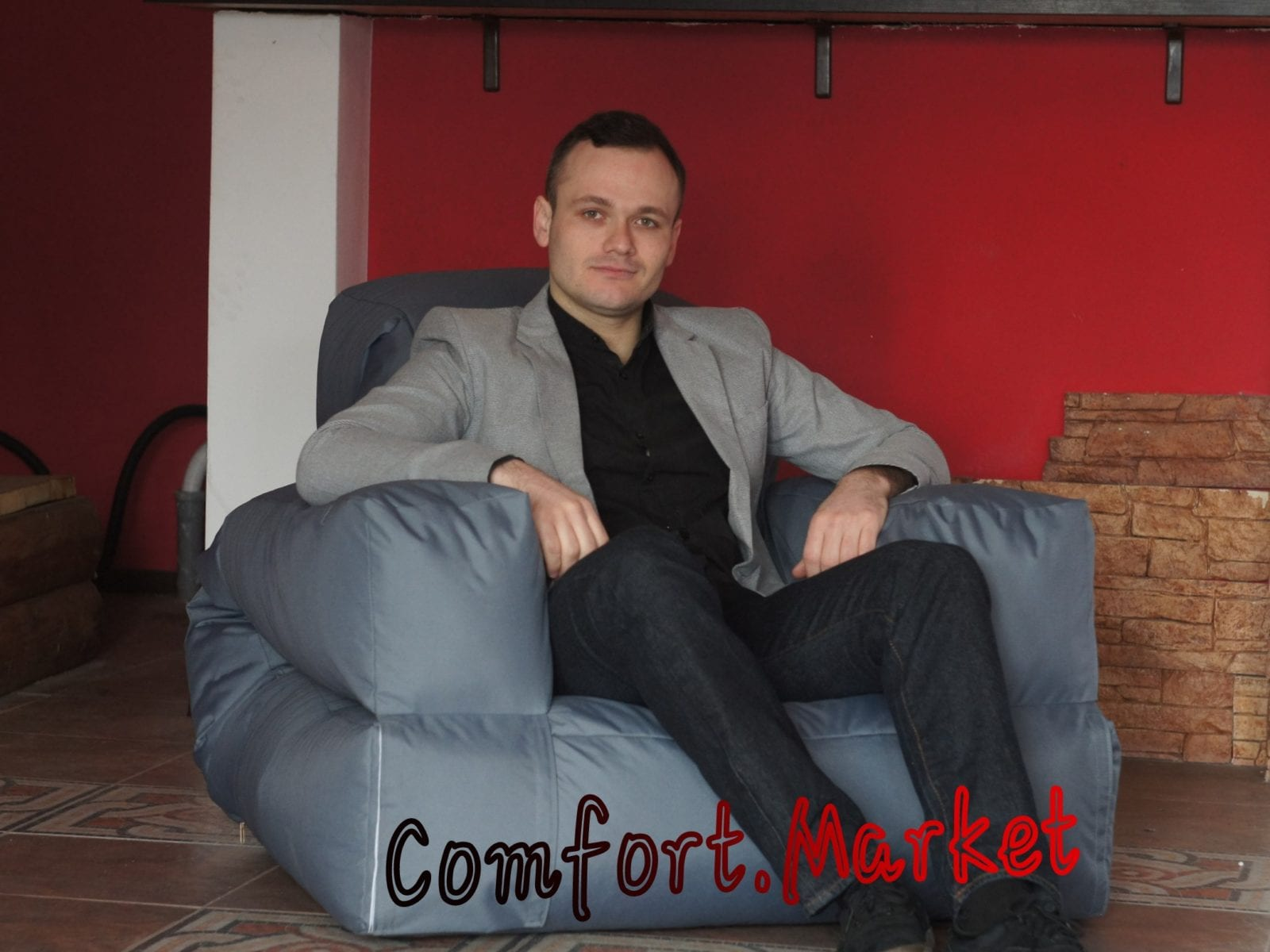 Раскладывающееся бескаркасное кресло кровать Хиппо от производителя в Украине Comfort Market