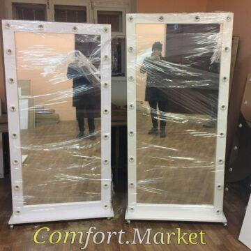 Заказать напольные зеркала с лампочками во весь рост от производителя в Киеве.