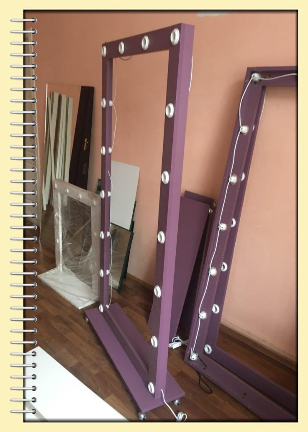 Зеркала с подсветкой лампочками - купить мебель для мастеров красоты и салонов в Киеве
