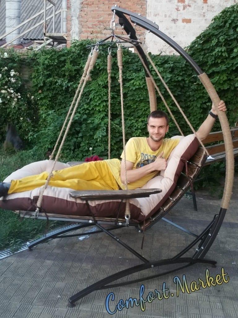 Подвеное кресло кровать Ego как садовые качели