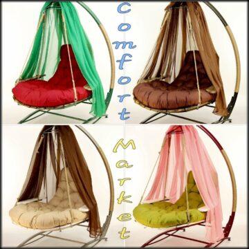 Кресло Ego - выбор цвета стойки, подушки, накидки - Comfort Market