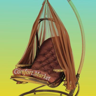 Подвесные качели для дома и сада Evo - раскладное кресло-лежак от Comfort Market