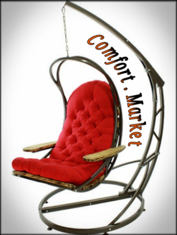 Подвесное кресло качели EVO на прочной стойке - лежак для двоих