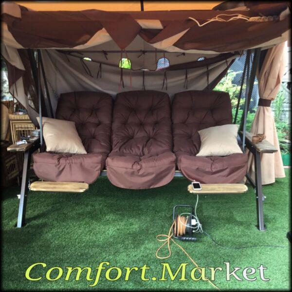 Фото мебель для сада от Comfort Market - качели Техас Люкс возле дома