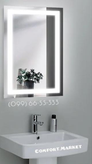 Заказать настенное зеркало в ванну с LED подсветкой