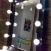 Чёрное настольное зеркало для макияжа с подсветкой, размер 65*82 см