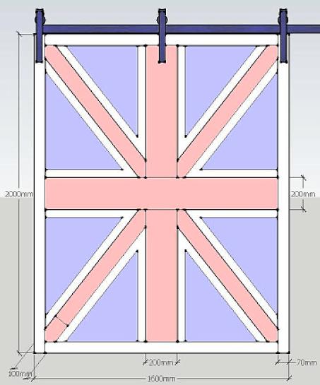 Дверь Britain Flag